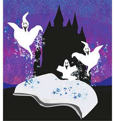 magic book with ghost stories vector image