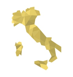 map Italy low poly vector image vector image