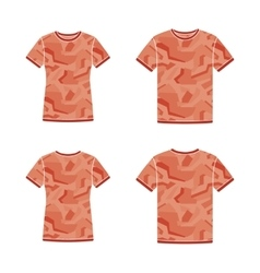 Red short sleeve t-shirts templates with the vector