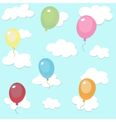 seamless pattern with colorful balloons vector image