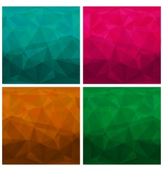 Set of abstract modern style triangle backgrounds vector image