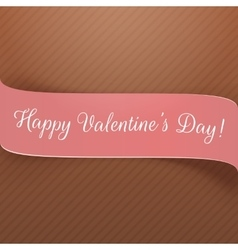 Valentines day realistic pink festive ribbon vector