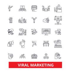 viral word of mouth social media advertising vector image