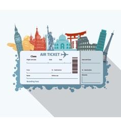 World landmarks ticket vector image vector image
