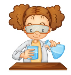 Young girl scientist vector image vector image
