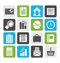 Flat business and office realistic internet icons vector