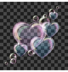 Shiny bubble heart vector