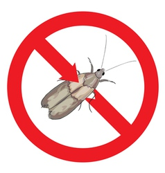 Moth pest is prohibited vector