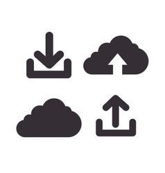 Icons upload download design isolated vector