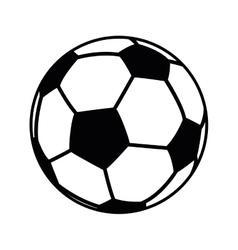 Football ball object icon vector