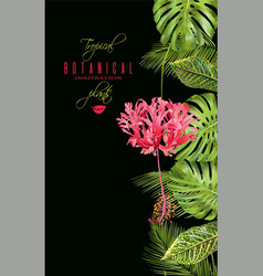 Tropical flower vertical banner vector