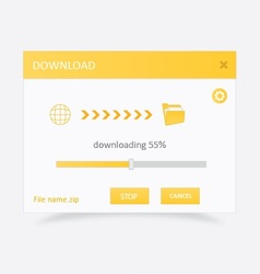 Downloading file with progress bar 3 vector