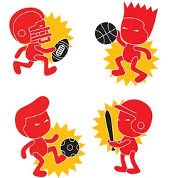 Athlete cartoon vector