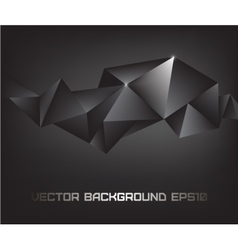 abstract black crystal background vector image