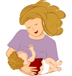 breastfeeding mother vector image
