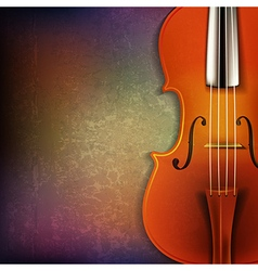 Abstract grunge music background with violin vector