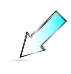 blue downloads arrow on white vector image
