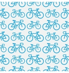 Bicycle seamless pattern vector image
