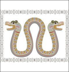 aztec snake vector image