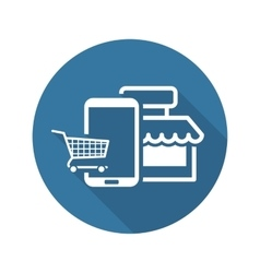 Online Shopping Icon Flat Design vector image