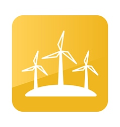 Windmill icon farm vector
