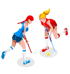 Field hockey 2016 sports 3d isometric vector