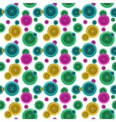Buttons sewing seamless pattern button shirt vector image