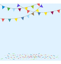 Celebration background with flag bunting vector image