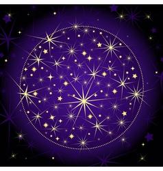 Christmas dark violet ball vector