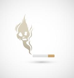 Cigarette and smoke icon vector image