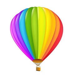 Colorful hot air balloon vector