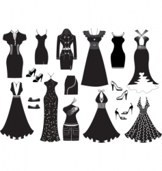dresses silhouettes vector image vector image
