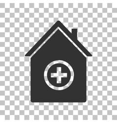 Hospital sign dark gray icon on vector