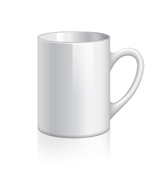 Object white cup vector