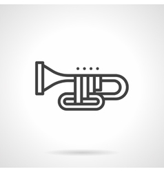 Orchestral trombone simple line icon vector