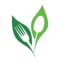 Organic restaurant symbol vector image vector image