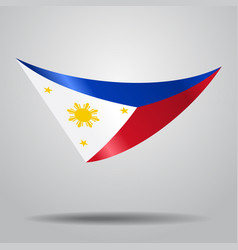 Philippines flag background vector