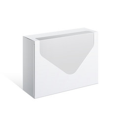 realistic white package box vector image vector image