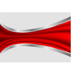 red waves abstract transparency background vector image vector image