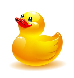 Rubber duck icon vector