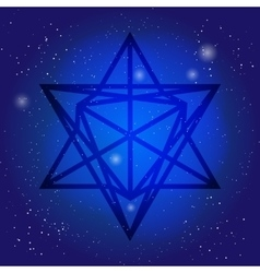 Sacred geometry symbol 3d in space Alchemy vector image