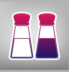 Salt and pepper sign purple gradient icon vector