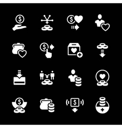 Set icons of charity and donate vector image