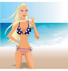usa bikini vector image