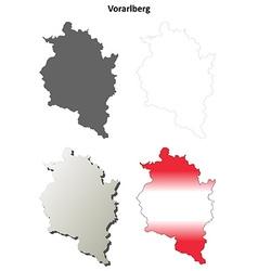 Vorarlberg blank detailed outline map set vector image vector image