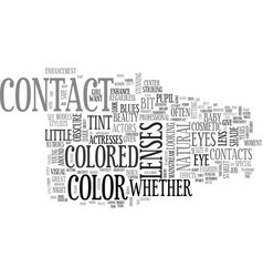 What is a cosmetic contact lens and what s it vector