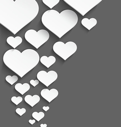 White heart border vector