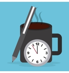 work time vector image