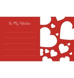 Art of valentine day card vector