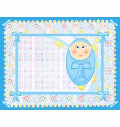 Card for a baby boy vector